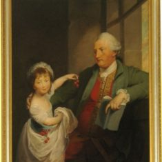 Henry Hall, 4th Viscount Gage (1791 - 1877) with. his daughter Suzannah. The warren family, which owned Westbury,  had married into the even wealthier Gage family and Westbury because the junior residence for members of the family. | Firle Place Estate