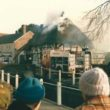 White Cottage on Fire