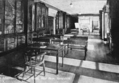 Westbury House School Library with desks