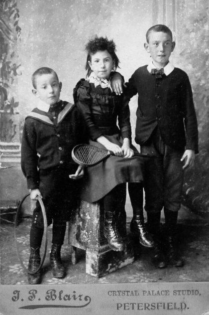Crispin, Florence and Owen Budd