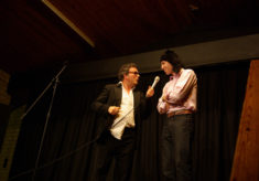 Chris Hollis and Simon Gillespie at East Meon's Got Talent