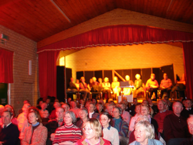 Cinema Audience at the Village Hall