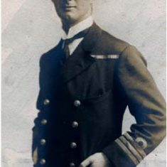Robinson won his VC in the Dardanelles in WWI and was later promoted to Admiral. He retired to Langrish after WWII