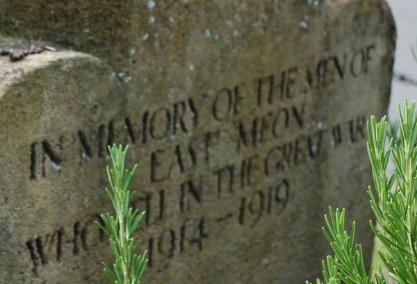 Memorial for East Meon WW1 fallen