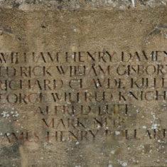 Names of WWI fallen on War Memorial D - P