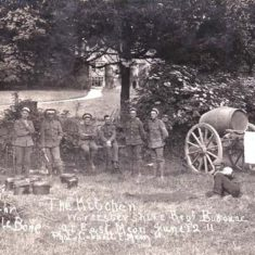 Photograph taken in June 1911 showing troops from the Chesham Regiment bivouacking in the garden of the Vicarage during an exercise.  | Libby Swayne