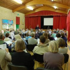 Parish Annual Forum in large hall