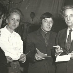 R to L William Douglas Home,John Sparrow, Lady Dacre, early 1970s