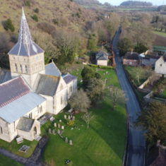 Richard Gaisford took this photo of All Saints church and The Court House using a drone in April 2020.  | Richard Gaisford