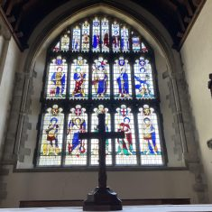 East window in Lady Chapel by Ninian Comprr | Richard Gaisford