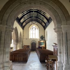 Nave from transept, romanesque arch | Richard Gaisford