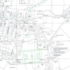 Proposal for development on Coombe road and soccer pitch on Belmont Farm, 2000.