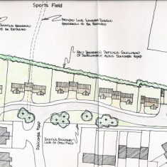 Proposed layout of The Green, 2000