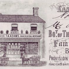 Header of invoice of Adams store, 1889