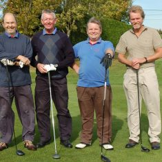 East Meon Golfing Society Michael Blakstad, David Cooke, Dominic Carney, Dick Williams