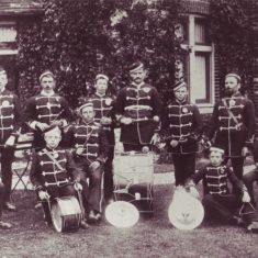 Brass Band outside Vicarage