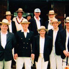 Cricket team includes (back row) BilL Tyrwhitt Drake, David Cook, Frank wheeler, (front row) Dominic Carney, Alan Blackman