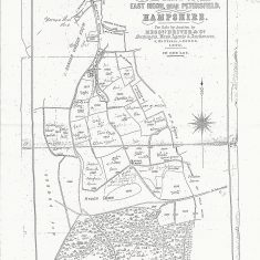 1890 sale map of South Farm with crops listed for each field