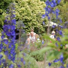 Visitors to the Tudor House garden