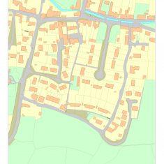 Parish map showing Glenthorne, High Street, Chapel Street and Temple Lane