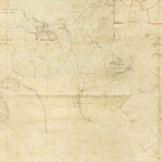 Section of East Meon Tithe Apportionment map 1852 Village & Oxenbourne
