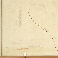 Section of East Meon Tithe Apportionment map 1852 Hambledon parish border