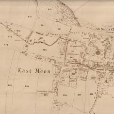 First Ordnance Surveymap of East Meon, 1869