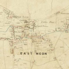 Section of East Meon Tithe Apportionment map 1852 showing village of East Meon