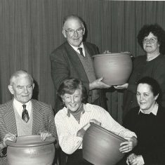 Garden Club urns, 1992,  Peter Street, Jackie wilson, front row Adrian Pelly, Susan Hull, Monique Aldridge