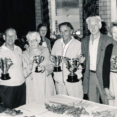 Garden Club winners, L to R Dennis Mason, nk, nk, nk, Bob Fisher, Paddy Mason, Jane Atkinson