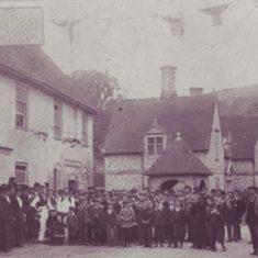 George Inn celebrating queen victoria's Jubilee 1887