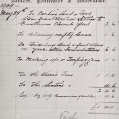 Henry Coles bill 1909, from the dairy at Glenthorne