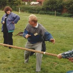 Keith Kitcher umpiring tug of war