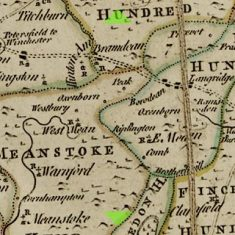 Detail of Thomas Kitchin map 1760