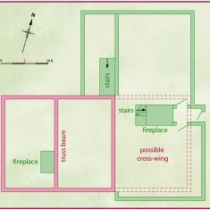 Floorpan of Tudor House in 16th century