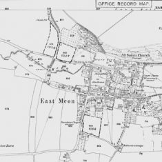 First Ordnance Survey map of East Meon 1869
