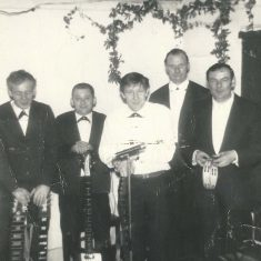 Meonaires, L to R, Don Cooper, Geoff Marshall, Les Blackman, David Goddard, John Mundy