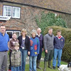 Michael and Jane Atkinson of South Farm, centre, with Nick, Tilly, Jack & Sue on left, Matt & Joe, right. 2005