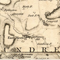 Detail of Thomas Milne map 1791