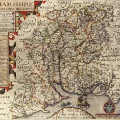 John Nordern map of Hampshire  1605