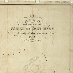 Header of East Meon Tithe Apportionment map 1852