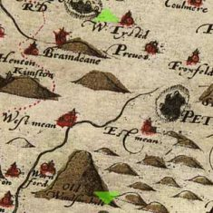Detail of Christopher Saxon's map  1575