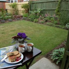Tea and scones in Bridger garden