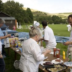 Simon Edsall in barbecue queue 2008