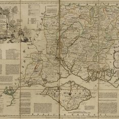 Thomas Kitchin map of Hampshire, 1760
