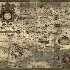 Christopher Saxton map of Hampshire 1575