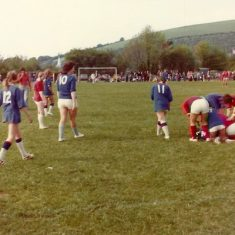 Women's soccer match 1973